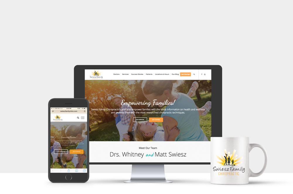 Swiesz Family Chiropractic Website & Logo 2016