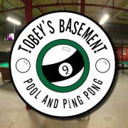 tobey's basement advertising