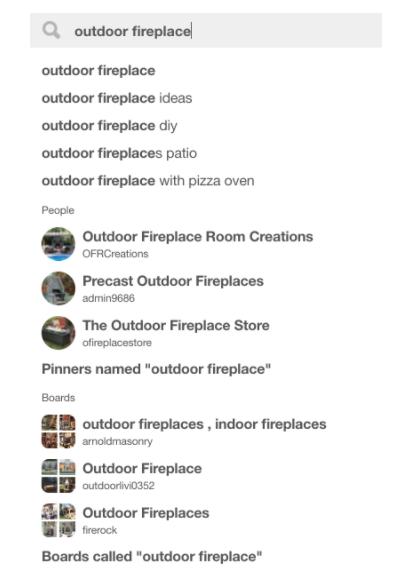 Pinterest search keywords