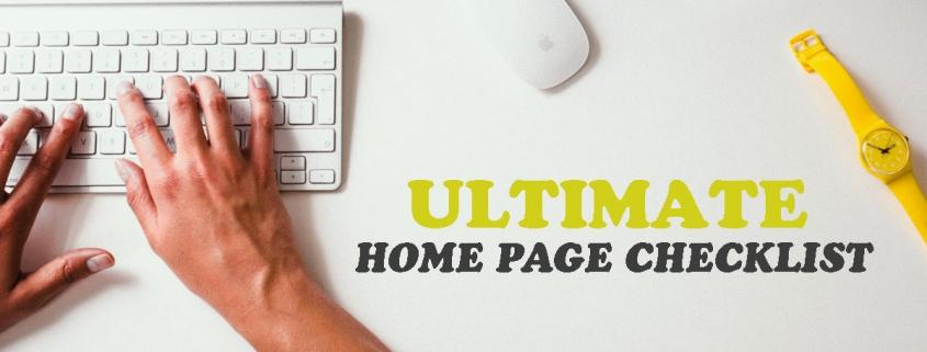 Home page checklist